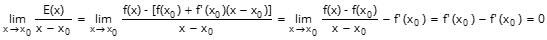 Derivate - L'errore infinitesimo di ordine superiore a x-x0